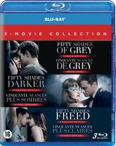 Fifty shades of grey) est une romance érotique écrite par la romancière britannique e. coffret dvd bluray trilogie cinquante 50 nuances de grey ...