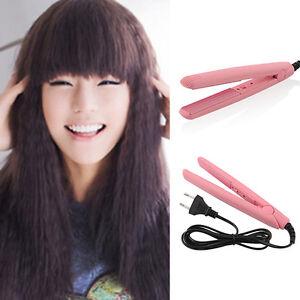pink ceramic hair crimper iron curler curling styling hairdressing tool waver ebay