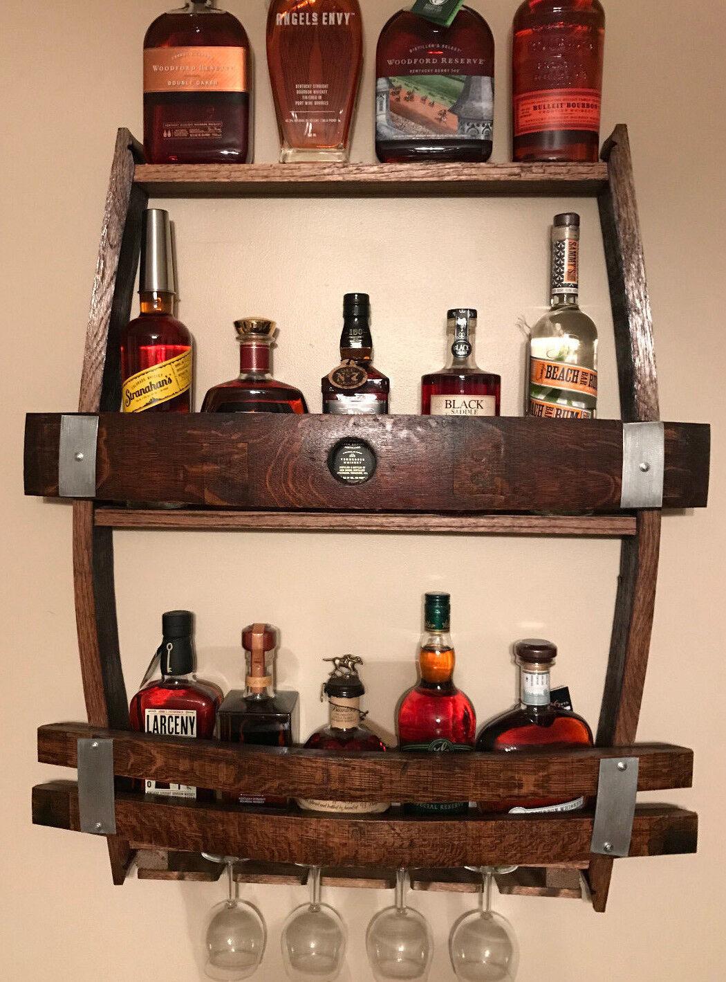 whiskey wine barrel wine rack