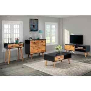 details sur vidaxl table basse meuble tv table console buffet bois d acacia massif