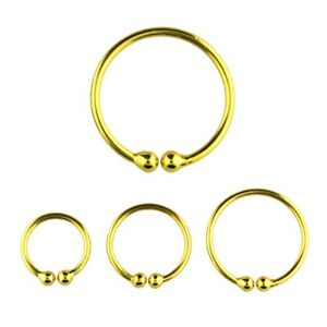 Fake Piercing, Septum, Nasenring Clip On Ring - Basic - 925 Silber (goldfarben)