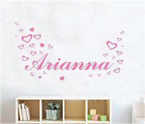 Seleziona la decorazione che preferisci e componi il nome del tuo bambino. Wall Stickers Adesivi Murali Nome Personalizzato Bambina Cameretta Cuori Figli Ebay