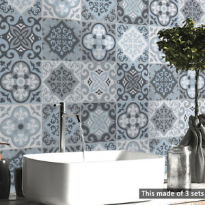 details about pvc waterproof self adhesive tile wall sticker wallpaper bathroom home decor
