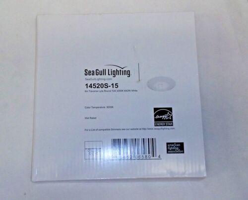 sea gull lighting 14520s 15 6in transverse lyte round white t24 3000k 90cri new home garden ceiling fixture