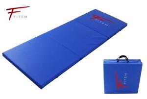 details sur tapis de sol pliable epais fitem sport fitness gymnastique yoga musculation