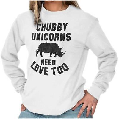 Download Chubby Unicorns Need Love Endangered Rhinos Long Sleeve ...