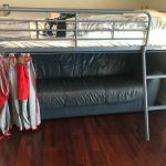 Used Twin Blue Bunk Loft Bed Mattress Slide Ladder 61 X 43 X41 Local P Up For Sale Online