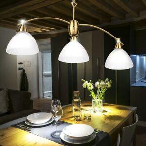 Suspension Eclairage Lustre Luminaire Salle A Manger Cuisine Verre Laiton Mat Ebay