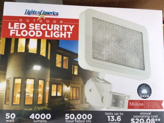 Outdoor Security LED Flood Light Lights of America 4000 Lumens 50 W     NEW Outdoor Security LED Flood Light Lights of America 4000 Lumens 50 W
