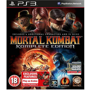 Mortal Kombat Game of The Year Edition Video Game For Sony PS3 Games     Image is loading Mortal Kombat Game of The Year Edition Video