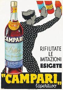 details zu targa vintage 1935 bitter campari pubblicita advertising poster aperitivo