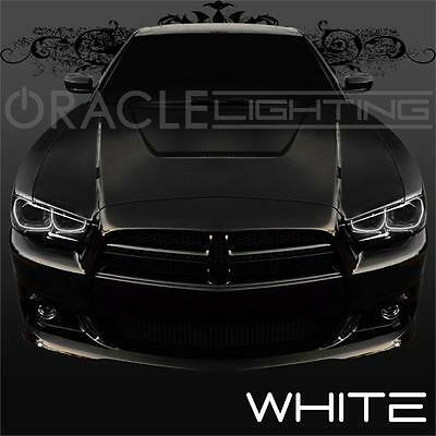 2011 2014 dodge charger oracle led headlight halo kit 4 rings color white ebay
