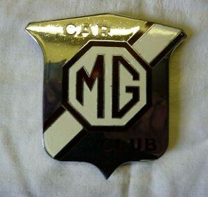 Vintage MG Car Club Enamel Badge Emblem