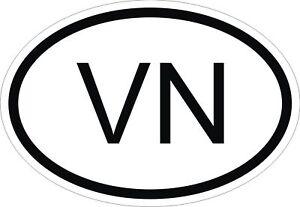 VN VIETNAM COUNTRY CODE OVAL STICKER bumper decal car | eBay