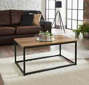 tromso coffee table with dark wood top