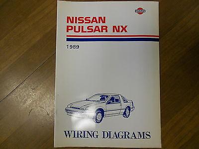 1989 nissan pulsar nx wiring diagram service repair shop manual factory oem  89  ebay