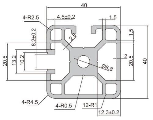 MK-4040E-2-slot-open-T-slot-extrusion-aluminium-profile-40x40mm-2-7-100mm