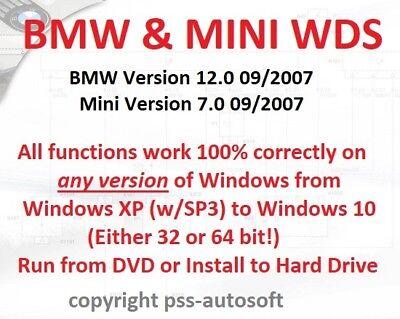 bmw  mini wiring diagram system wds 100 functional all 32  64 bit  windows  ebay