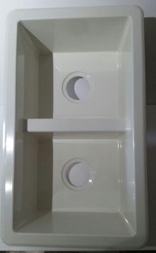 rv camper parts rv 50 50 white double kitchen sink 27 x 16 x 7 rv free shipping rv trailer camper interior parts