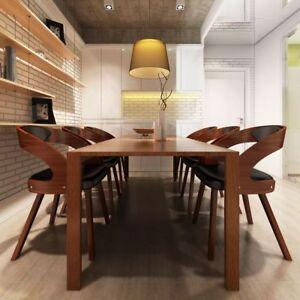 details sur chaises a accoudoirs salle a manger ergonomique en cuir bois robuste brun