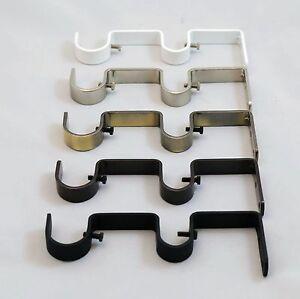 x heavy duty steel curtain rod brackets