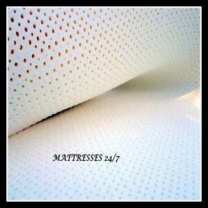 Image Is Loading 100 Natural Dunlop Latex Mattress Topper Any Size