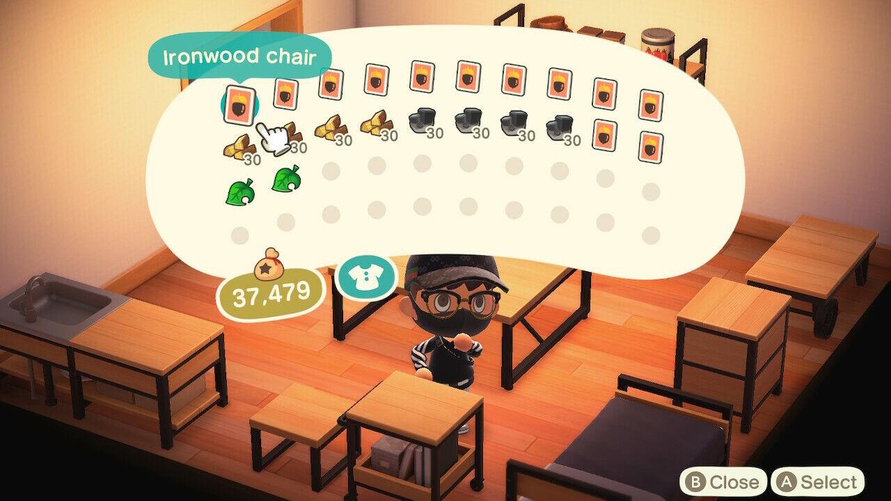 Animal Crossing: New Horizons Ironwood Furniture DIY ... on Ironwood Furniture Animal Crossing  id=78008
