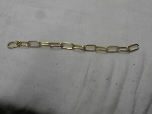 details sur chaine en laiton pour lustre ancien
