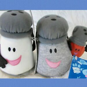 Vintage Blues Clues Viacom Mr Salt Mrs Pepper Paprika Family Plush Shakers Ebay