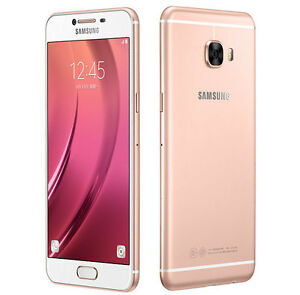 "Samsung Galaxy C7 C7000 Pink Gold 5.7"" 16MP 32GB 4GB RAM Android Phone By FedEx"