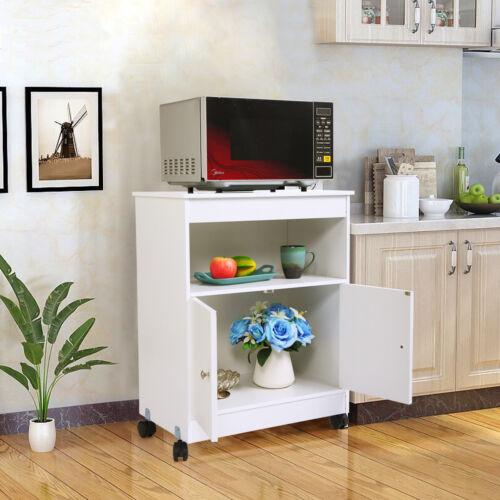 home garden kitchen microwave cart rolling wooden storage cabinet shelf drawer cupboard kitchen dining bar