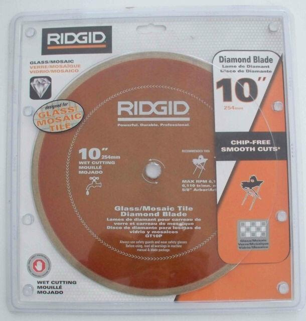 ridgid gt10p 10 glass tile diamond blade 254mm wet cutting