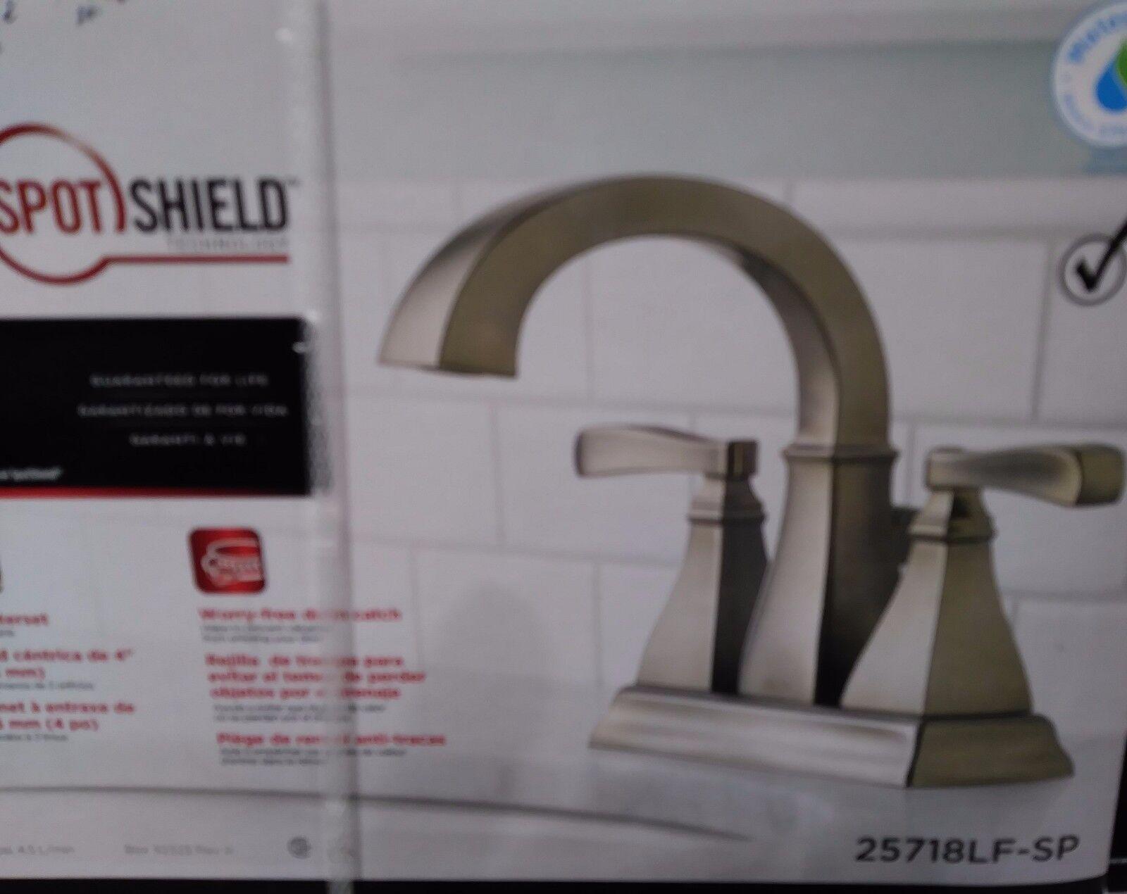 delta lakewood spotshield 2 handle bathroom faucet brushed nickel 25718lf sp