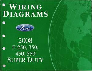 2008 Ford F250 F350 F450 F550 Factory Wiring Diagram