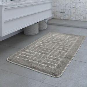 details sur tapis de bain design antiderapant tapis salle de bain motif carreaux gris