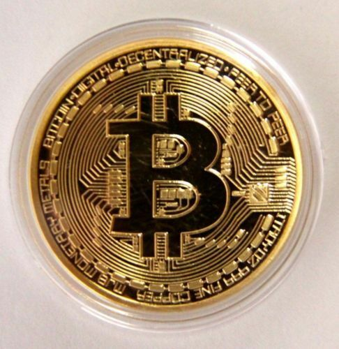 s-l1600 Gold Bitcoin Commemorative Round Collectors Coin Bit Coin is Plated Coins