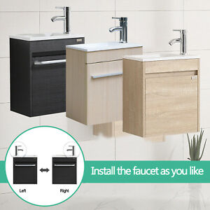 details about 16 bathroom vanity mounted cabinet undermount sink right left side faucet