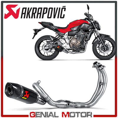 full system exhaust carbon akrapovic racing line for yamaha mt 07 2014 2019 ebay