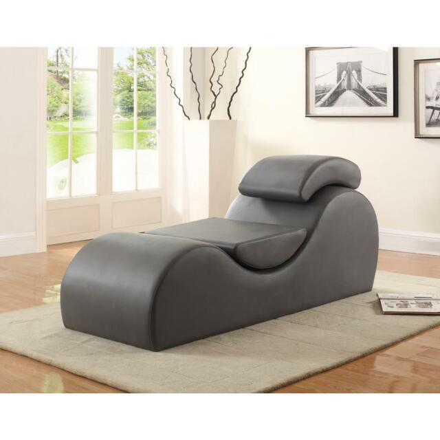 yoga chaise lounge chair sex lounger sofa couch faux leather exercise stretching