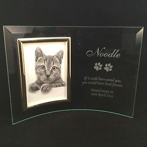 Personalised Engraved Glass Photo Frame In Loving Memory