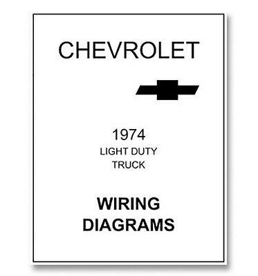 1974 chevy truck wiring diagram  ebay