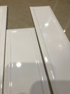 details about 10 american olean 3 x12 elegant structures gloss white tile es30312frahc1p2