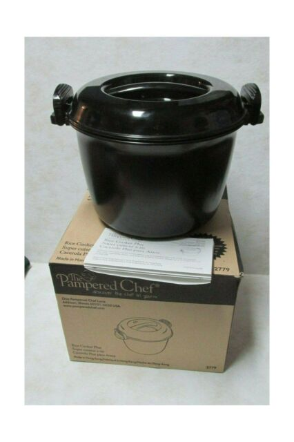 the pampered chef rice cooker plus 3 quart 2779 microwave pasta vegetables hbz5
