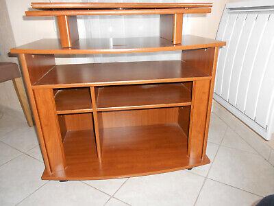 meuble a etageres avec support tv independant pivotant sur roulettes ebay