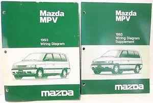 '1993 MAZDA MPV Van WIRING DIAGRAM Schematic Shop Service
