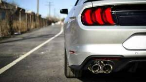 details about corsa axleback for mustang gt fastback active valve exhaust 2018 2020 3in 21002