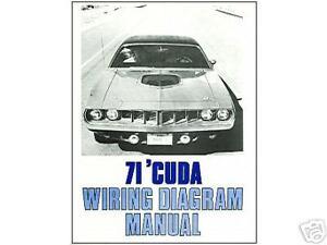 1971 71 BARRACUDACUDA WIRING DIAGRAM MANUAL | eBay