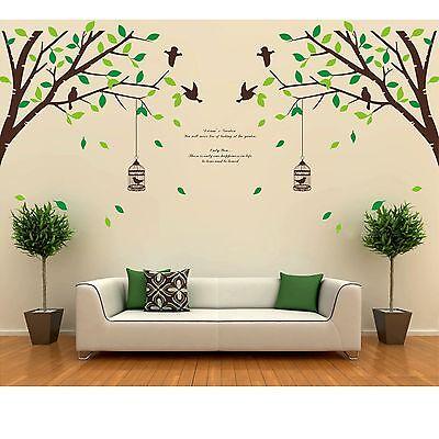 Tree Bird Removable Room Vinyl Decal Art Wall Home Decor ... on Room Decor Stickers id=63030