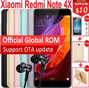 "Original 5.5"" Xiaomi Redmi Note 4X Prime 4+64GB MTK Helio X20 Deca Core Touch ID"