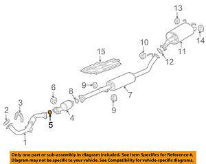 details about honda oem exhaust catalytic converter gasket 18393ss0j30
